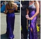 dress,prom dress,purple,purple dress,sequins,prom,prom gown,evening dress,long dress,long prom dress,tiffany & co.