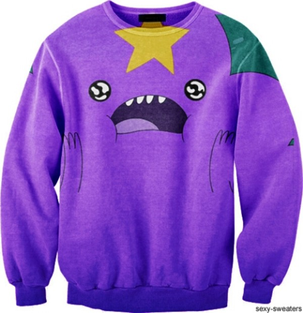 sweater adventuretime adventure time sweater purple stars