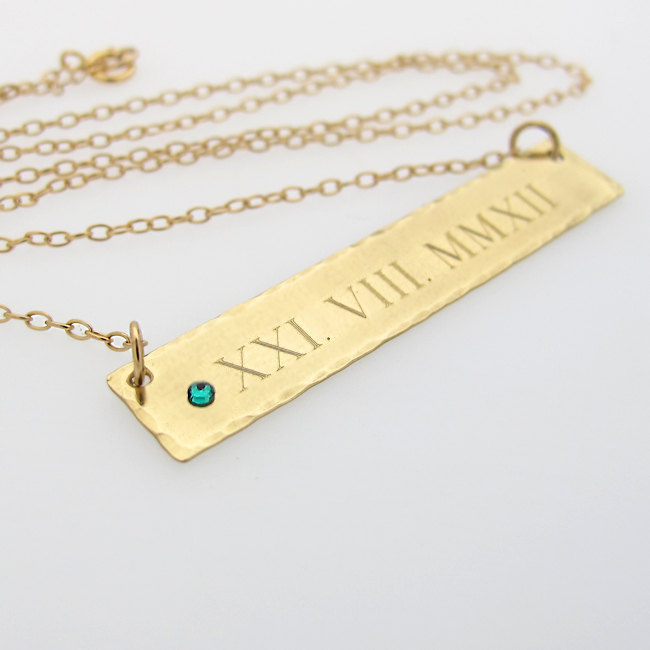 personalized tupl wedding listing date due il zoom necklace
