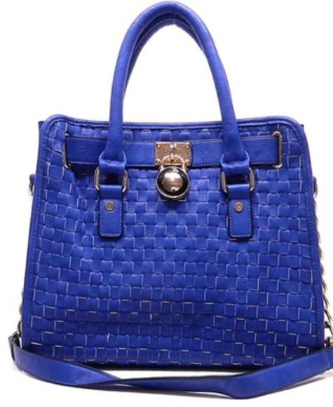 bag blue bag blue blue tote gold leather bag