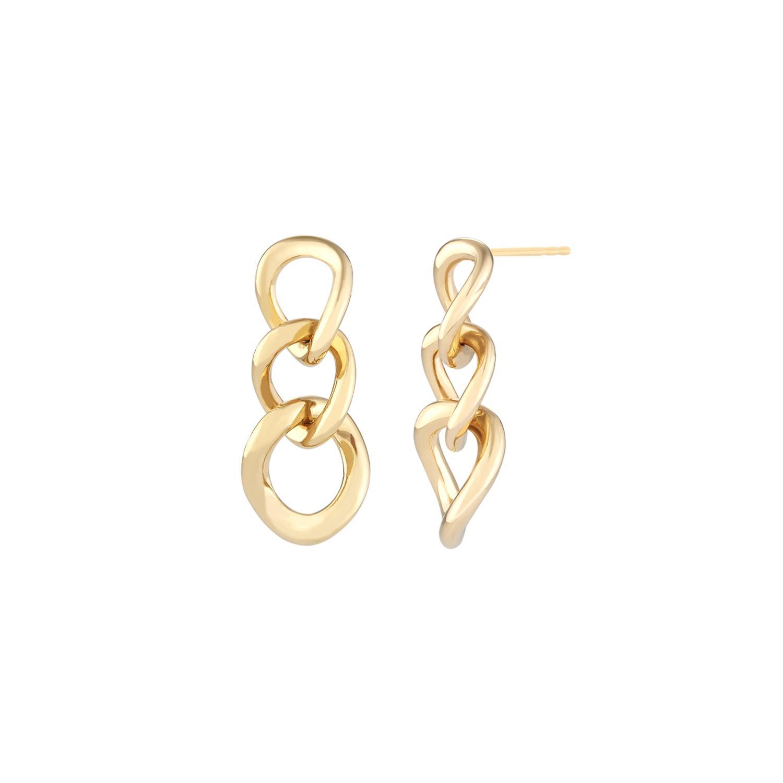 Curve Link Earrings