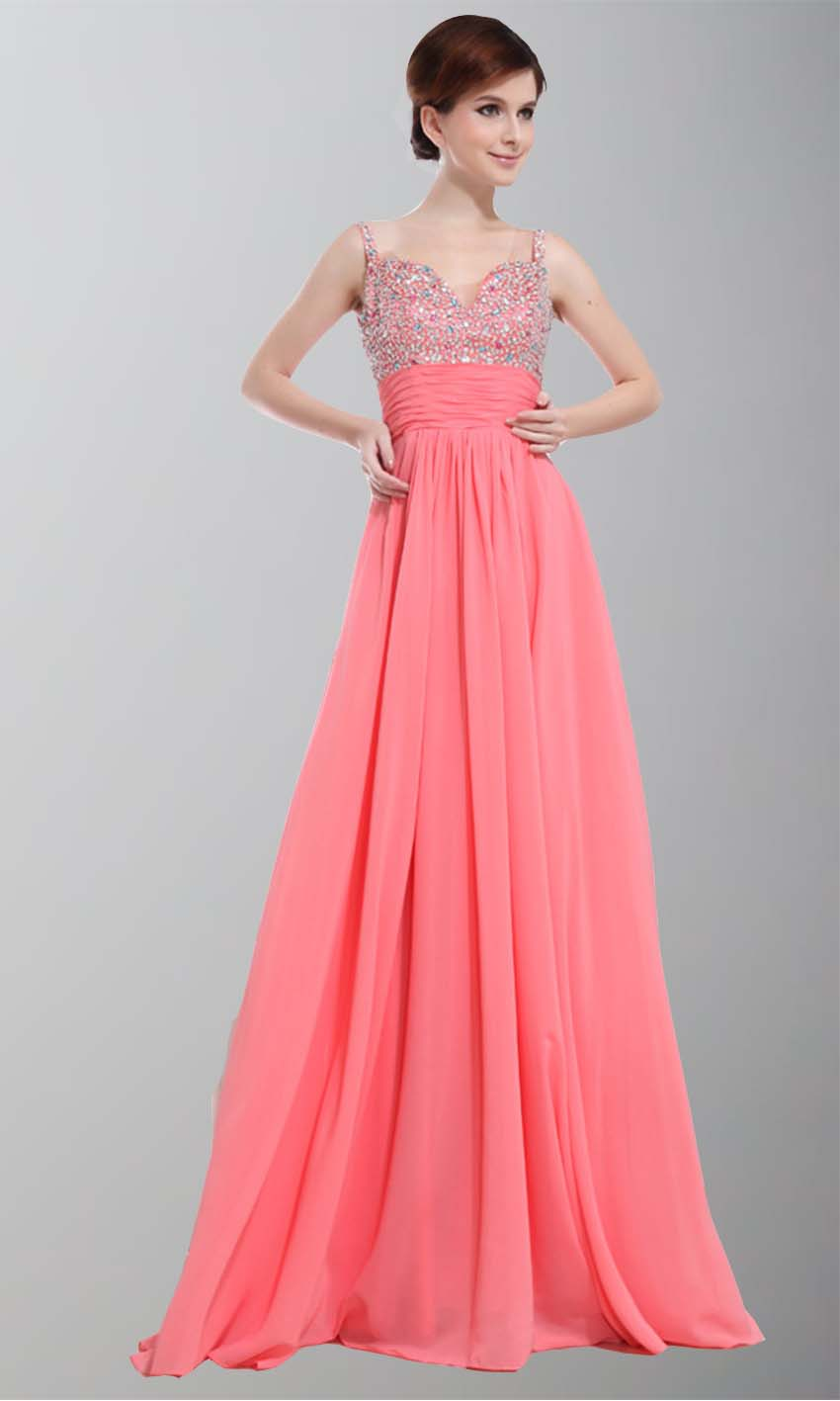 Gorgeous Spagetti Aline Sequin Long Prom Dresses KSP261 [KSP261 ...