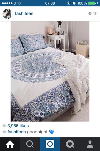 blue and white bedding boho boho decor bedroom mandala hippie boho chic lelaan sheet sets lelaan home accessory tumblr home decor home furniture indie hipster hippie chic tumblr bedroom teen bedrooms boho bedding blue white summer white bedding bohemian bedding instagram classy pretty beach beautiful beach house throw blanket chic bedsheets bedspread and pillows mandela