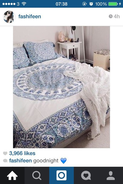 home accessory bedding urban outfitters beach house blue and white boho boho decor bedroom mandala hippie boho chic lelaan sheet sets lelaan hipster boho bedding tumblr home decor home furniture indie hippie chic tumblr bedroom teen bedrooms blue white summer white bedding bohemian bedding instagram classy pretty beach beautiful throw blanket chic bedding bedsheets home decor bedspread and pillows mandela bedding