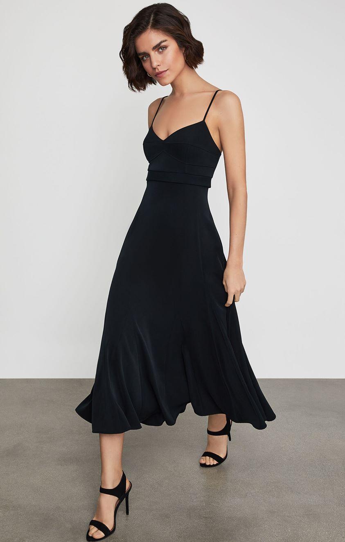 Strappy Flared Midi Dress