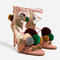 Leather high heel sandals with pompoms - sandals-shoes-woman | zara united states