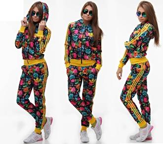 jumpsuit adidas floral 3 stripes tracksuit