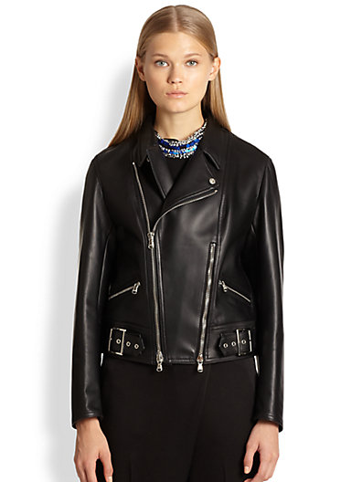 3.1 Phillip Lim - Double-Zip Leather Biker Jacket - Saks.com