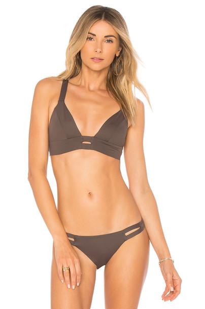 Vitamin A bikini bikini top dark green swimwear