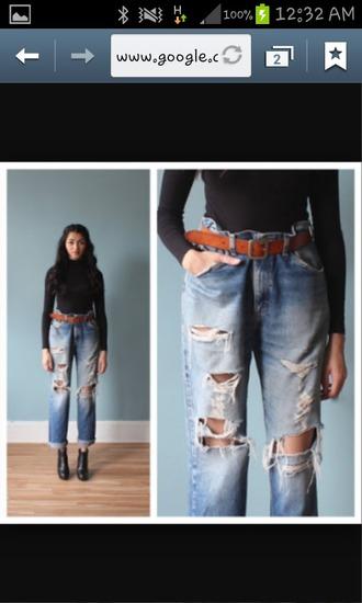 jeans boyrfriend jeans oversized oversized jeans jacket holes denim