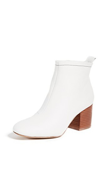 Diane Von Furstenberg booties white shoes