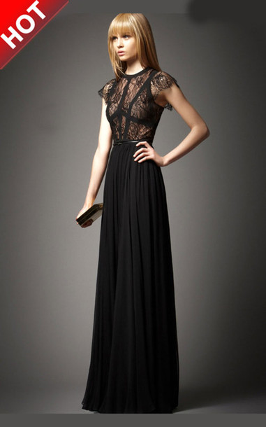 dress black lace dress black dress lace top prom black maxi dress lace sleeves long black black prom dress lace dress formal
