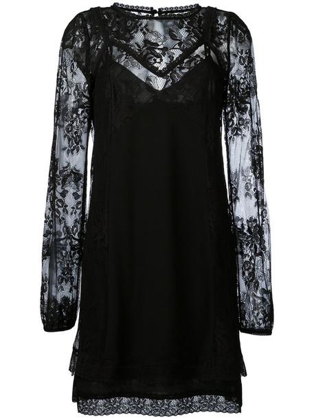 McQ Alexander McQueen dress women lace cotton black