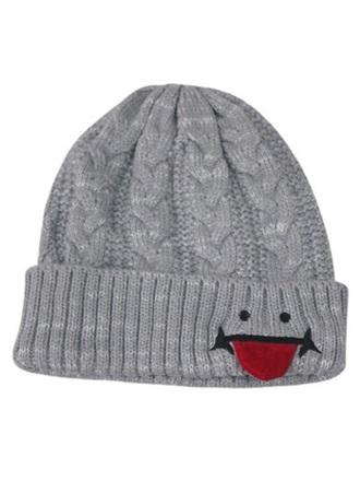 hat beanie knited beanie grey funny