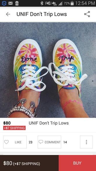 shoes tie dye dont trip vans