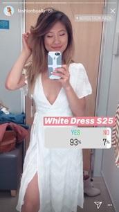 dress,nordstrom rack,wrap dress,white dress,midi dress,white,wrap,midi,nordstrom
