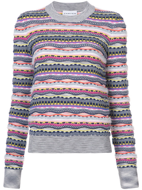 Carven jumper women cotton knit sweater