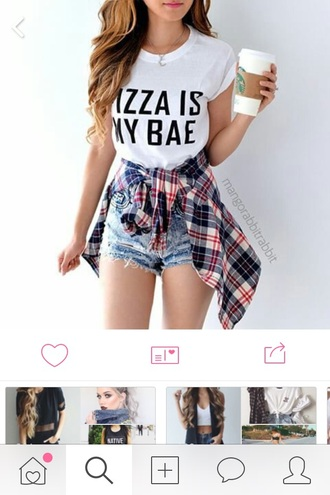 top food shirt pizza bae shirt style food