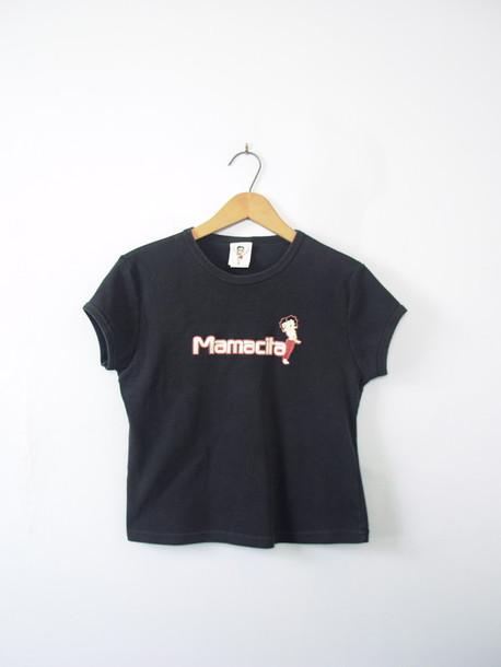 shirt crop cropped cropped tee mamacita betty boop 90s style grunge etsy  vaporwave vintage 28719 crop 4a4bde9cd