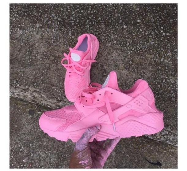 3c462c99be8f shoes pink hurraches nike sneaker pink custom shoe nike huarache light pink  women customized nike haraches ...