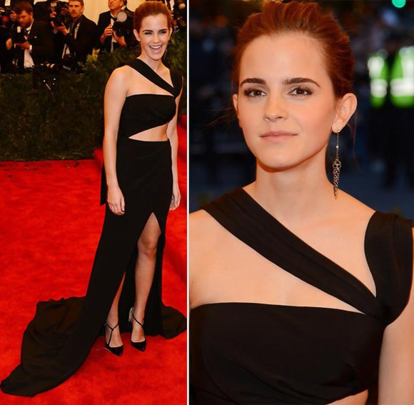 emma watson black cutout dress gorgeous