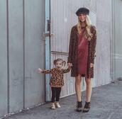 ashn'fashn,blogger,hat,dress,jewels,cardigan,shoes,sweater,pants,booties,fall outfits,mother and child