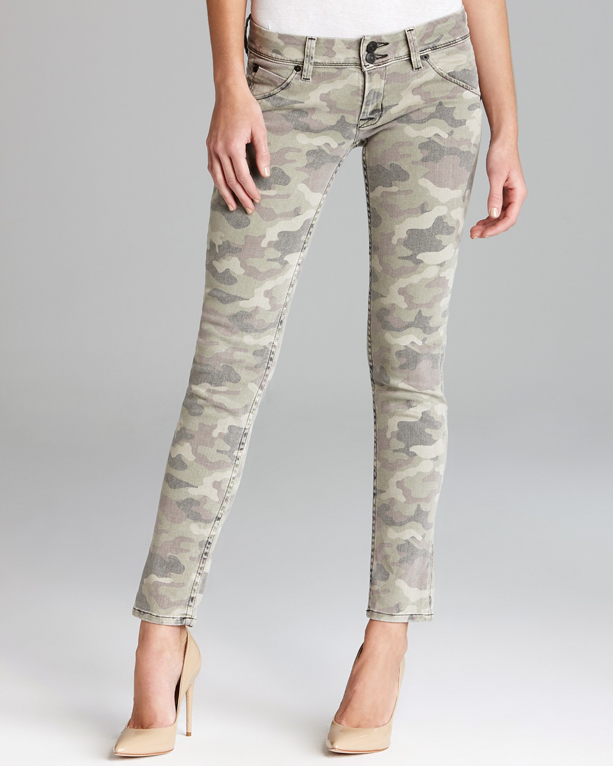 Hudson Jeans - Collin Skinny in Green Camo | Bloomingdale's