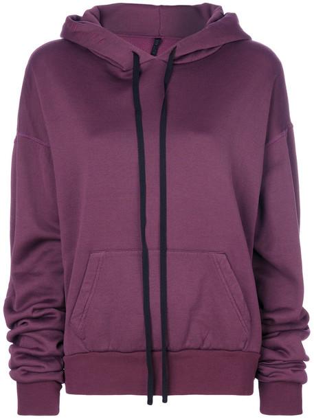 Unravel Project hoodie oversized women cotton purple pink sweater