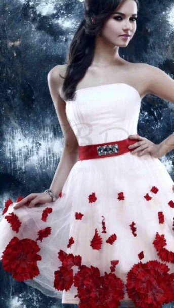 Prett skater skater dress flowers red dress white dress lace shoppable tips mightylinksfo