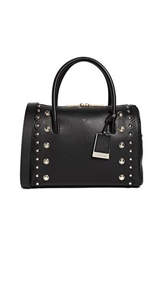 satchel studded street black bag