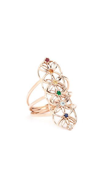 Jacquie Aiche rose gold rose ring gold jewels