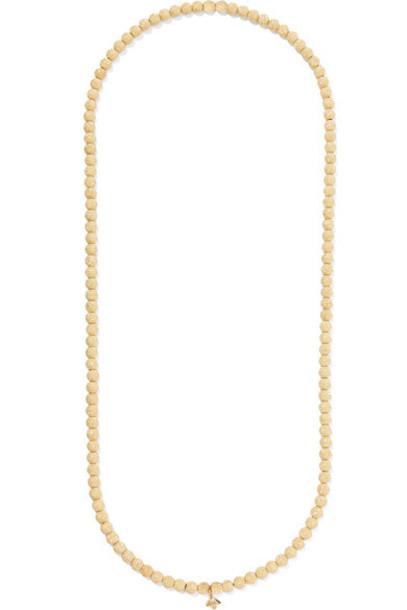 Carolina Bucci beaded necklace gold jewels