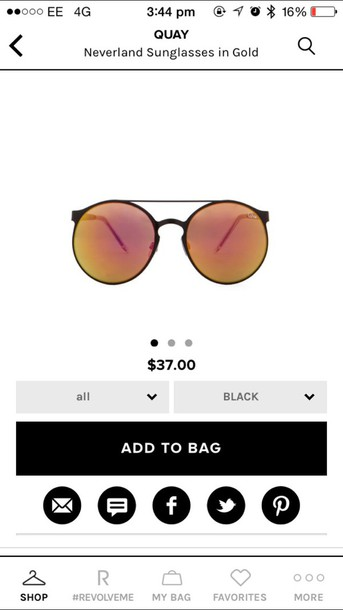 sunglasses black reflective
