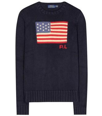 sweater cotton blue