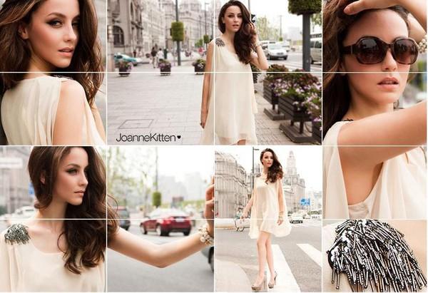 beige dress short dress blouse long blouse irregular dress