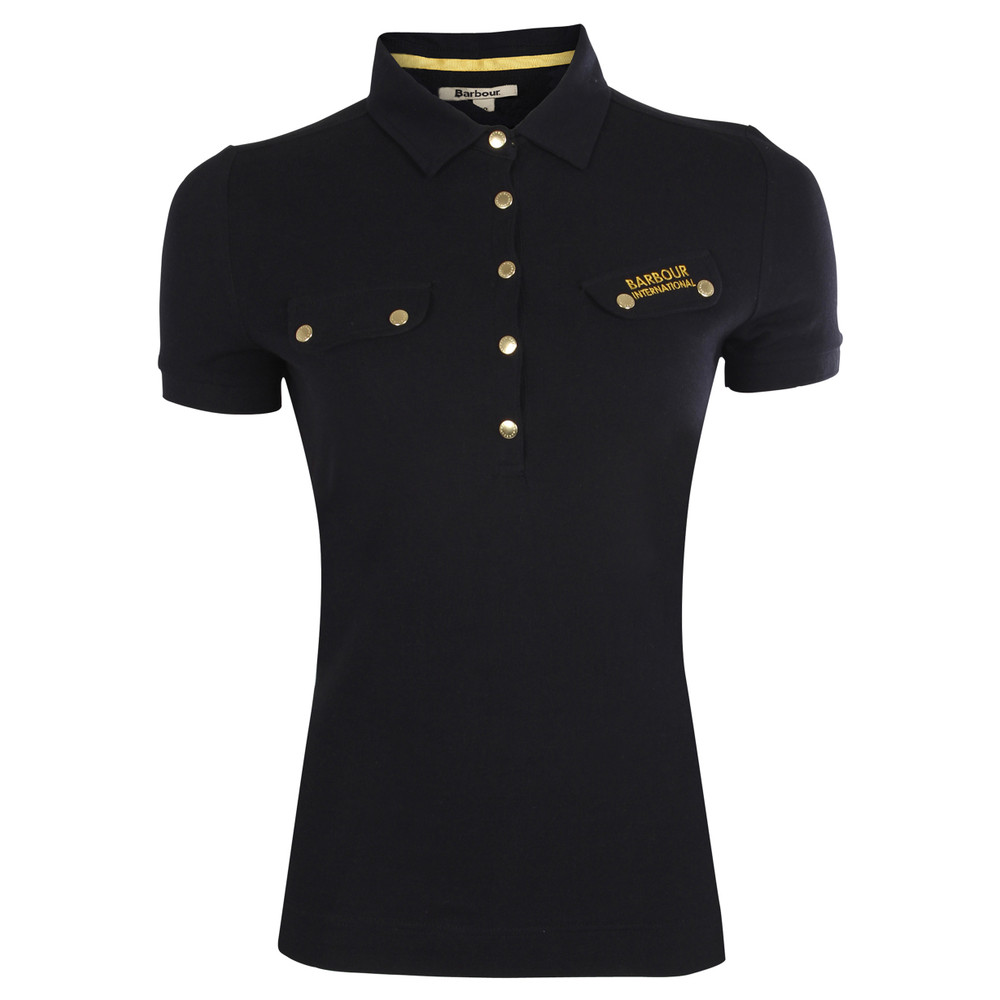 BARBOUR INTERNATIONAL INTERNATIONAL POLO in Black