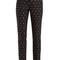 Rose fil coupe slim-leg cotton-blend trousers