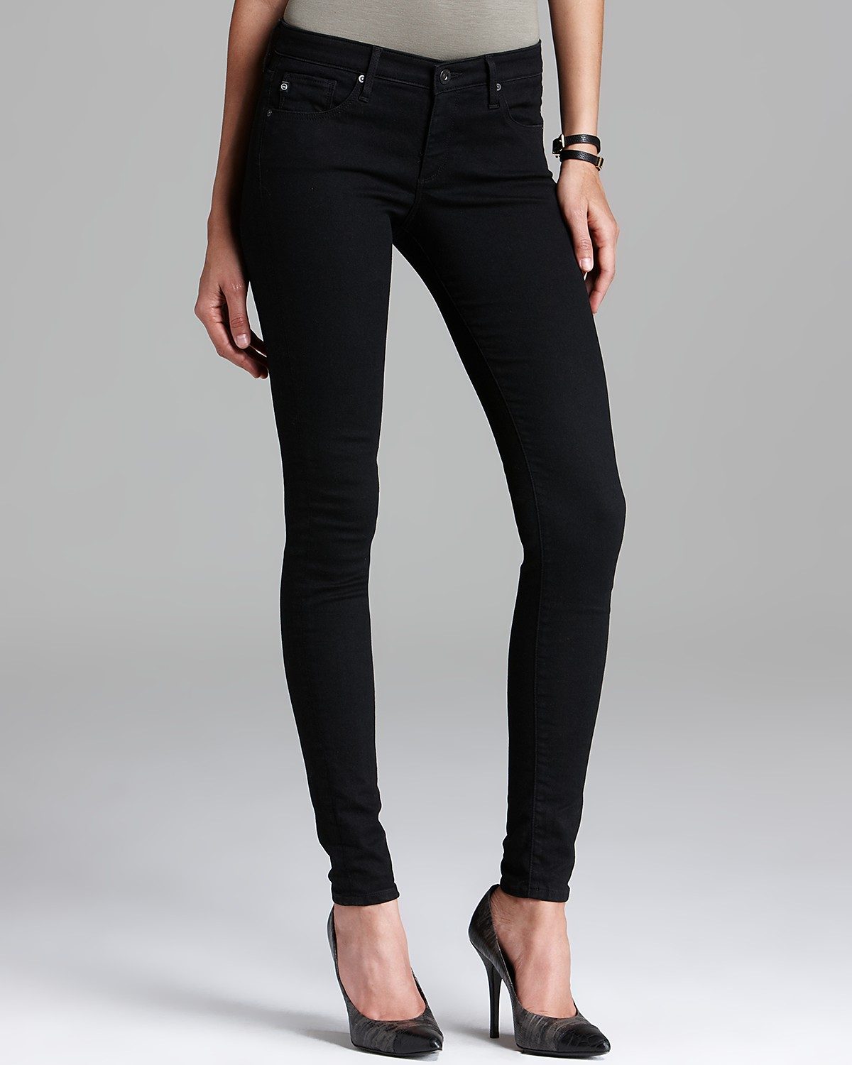 AG Adriano Goldschmied Jeans - The Absolute Legging in Raven | Bloomingdale's