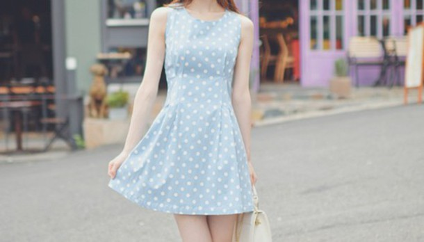dress korean fashion korean dress blue dress