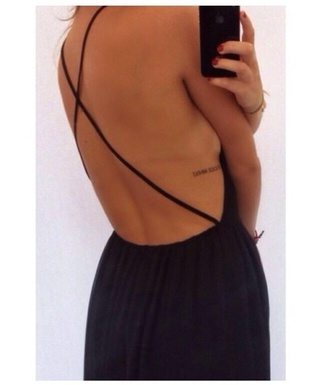 dress maxi dress cross back black maxi dress