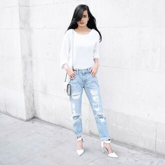 shoes raye white blogger summer spring sweater heels high heels ankle strap heels united kingdom streetstyle
