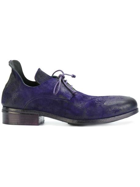 women shoes leather blue