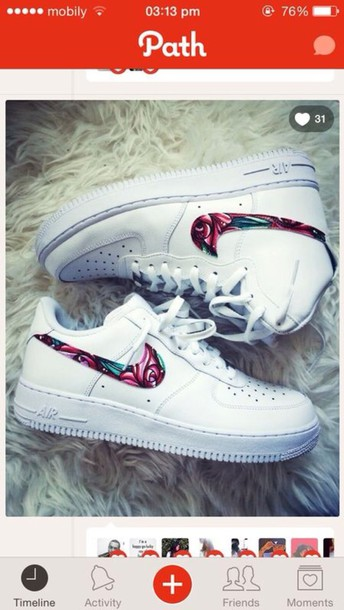 Nike Air Force 1 floral