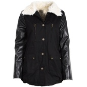 coat,black,parka,fur,collar,fur collar,jacket,winter outfits