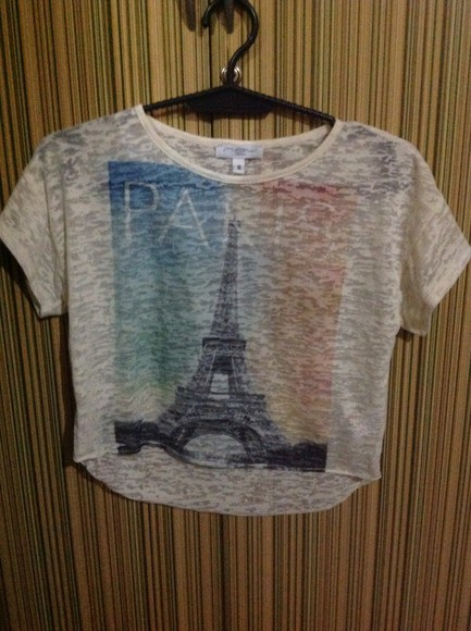 paris top dirty white look jeans