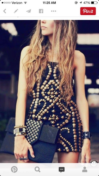 dress black with gold accent