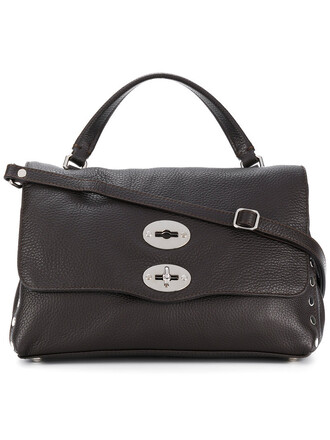 satchel women silver leather brown bag