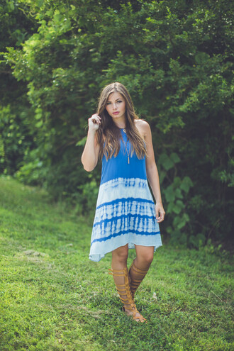 dress boho indie chic trendy music festival festival style summerf all tie dye tie dye hippie summer sundress summer dress casual transitional pieces transitional clothes gladiators knee high gladiator sandals