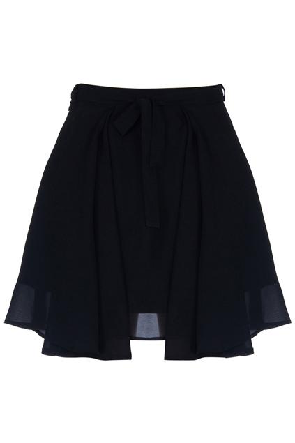 ROMWE | High-rise Puffy Pleated Black Skirt, The Latest Street Fashion
