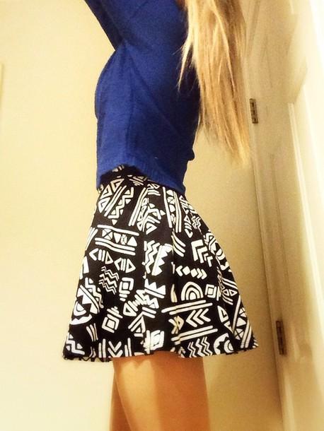 Skirt Forever 21 Black Dress Sweater Hipster Skater Crop Tops Shoes Hair